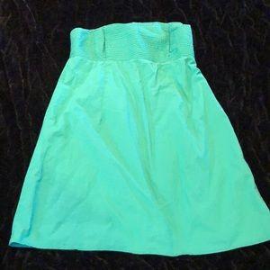 Gap Strapless Green Midi Dress Large